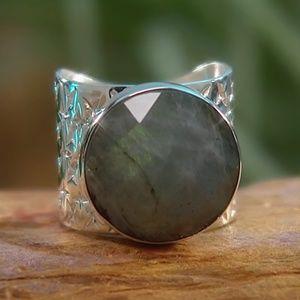 Jay King ROUND LABRADORITE Sterling Silver Ring